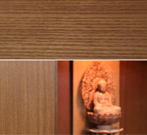 仏壇の木目アップ