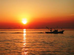 お彼岸の夕日