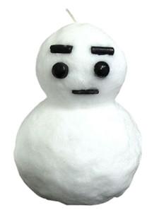 雪だるまキャンドル